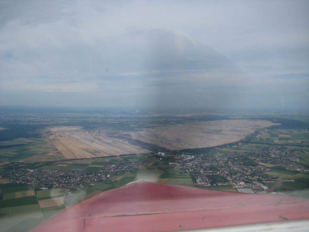 Braunkohle-Abbaugebiete bei Bergheim.