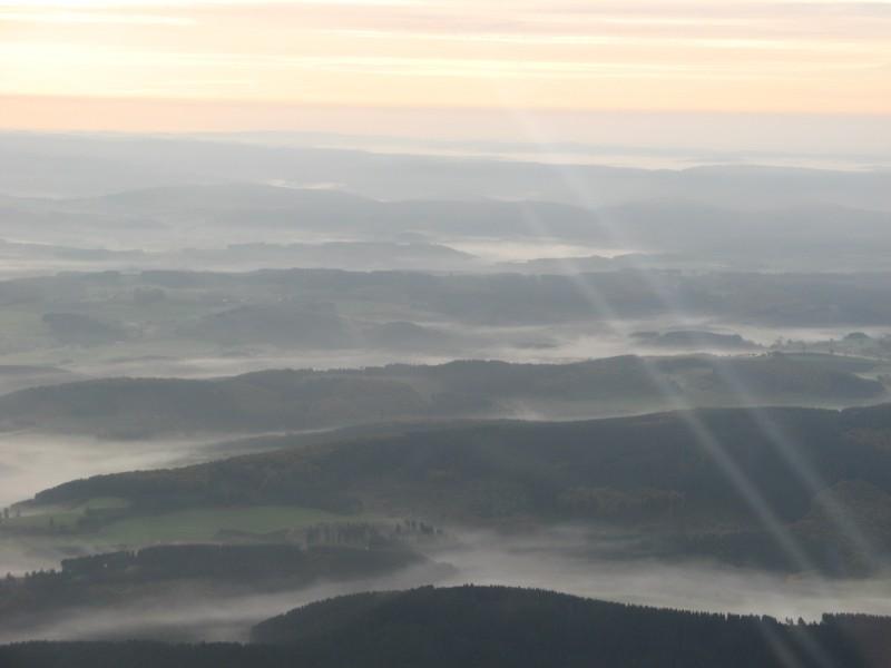 Morgennebel über dem Sauerland